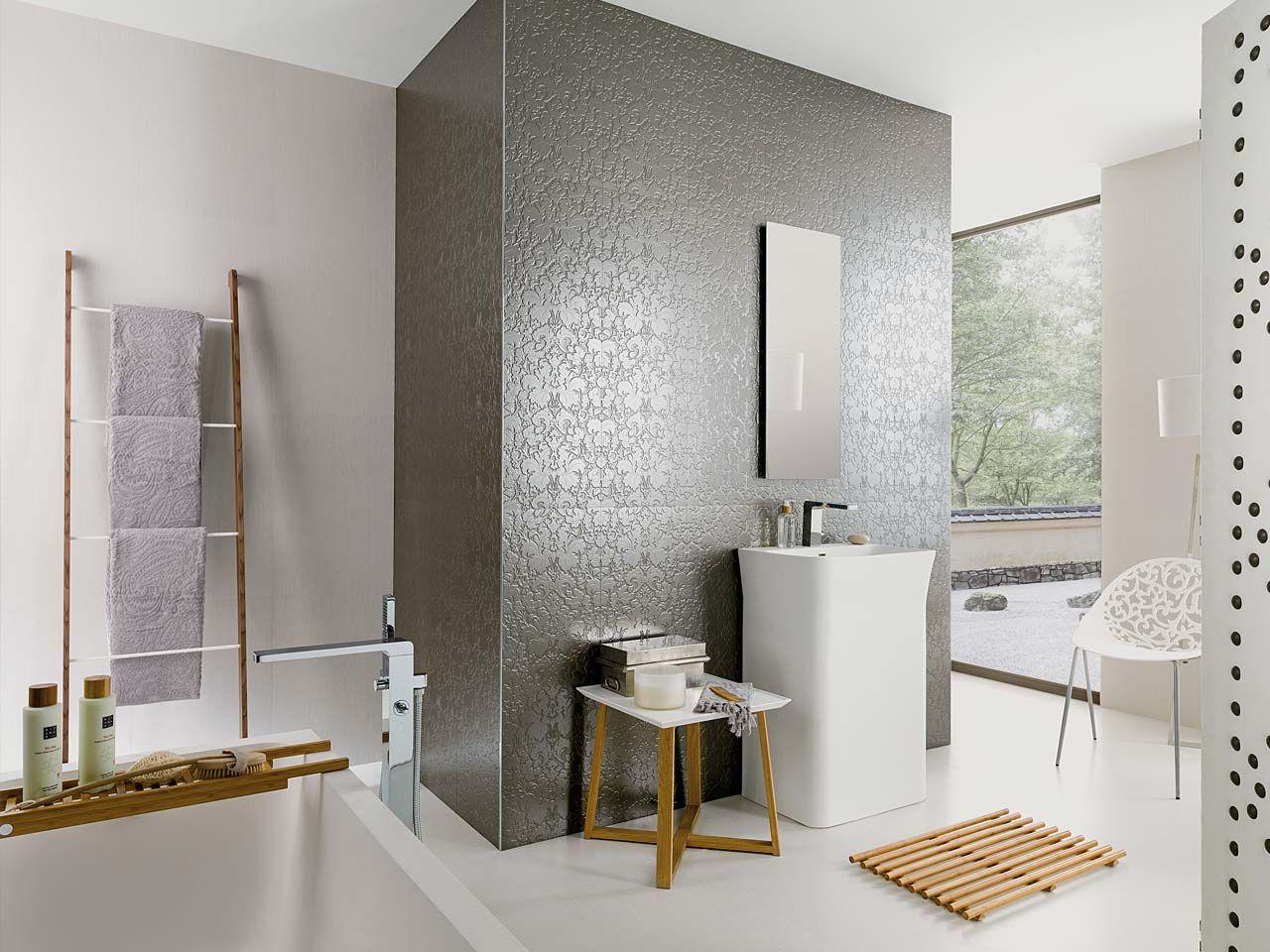 Para ba o de huespedes frente ducha y pared entrada - Revestimientos ceramicos para banos ...