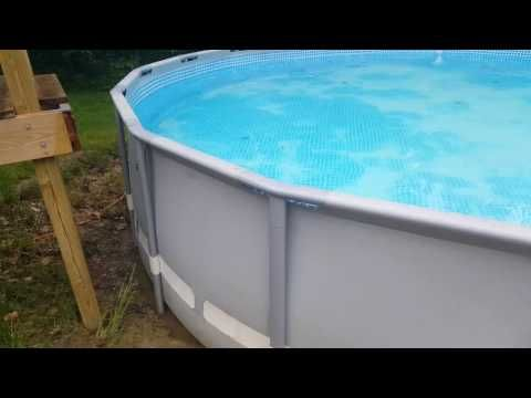3 Ways To Fix Repair Patch Intex Above Ground Pool With Leak Filled Vlog Youtube Intex Above Ground Pools Above Ground Pool Liners Swimming Pool Liners