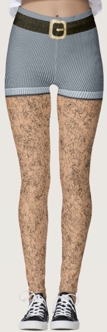 e43b00f82 These leggings look like you have real hairy legs and are wearing shorts  and a belt.