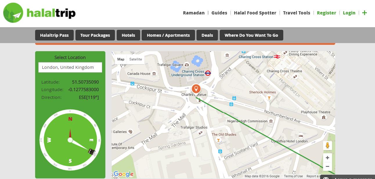 Cari Arah Kiblat Anda Di Mana Sahaja Dengan Aplikasi Halaltrip Walaupun Di Udara Ya Walaupun Di Udara Https Www Hala In 2021 Online Compass Map Directions