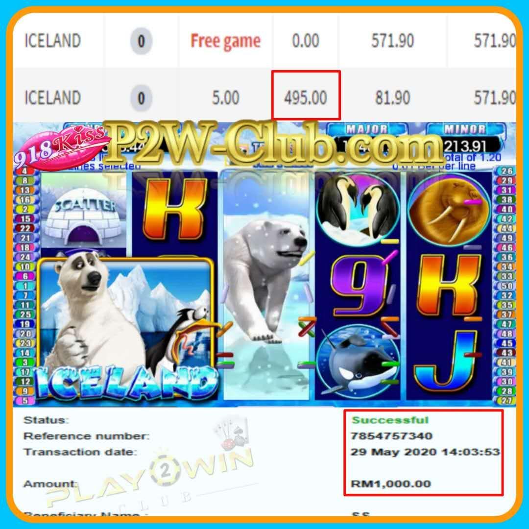 How To Win Iceland 918kiss Free Games  Online Casino Malaysia| P2W-Club.com