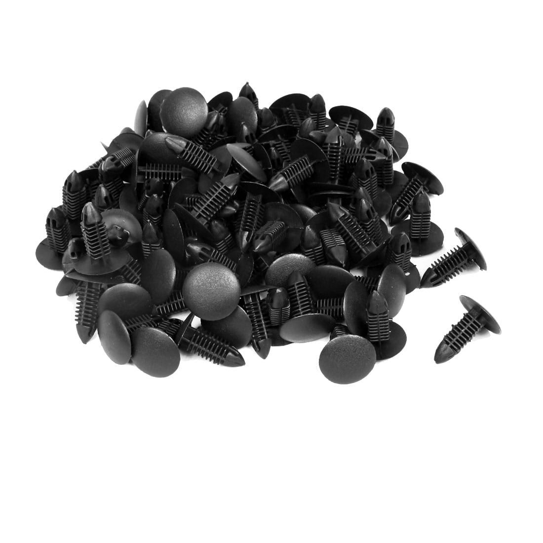 Unique Bargains Unique Bargains Auto Truck Door Fender 6mm Hole Plastic Rivets Fastener Black 200pcs