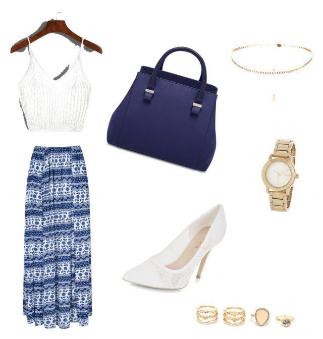 """Blues"" by sophfrief on Polyvore featuring Glamorous, New Look, LULUS and DKNY"