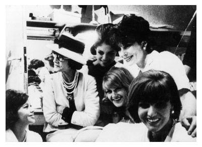 Jackie overlooks Chanel's girls and Mademoiselle Chanel.