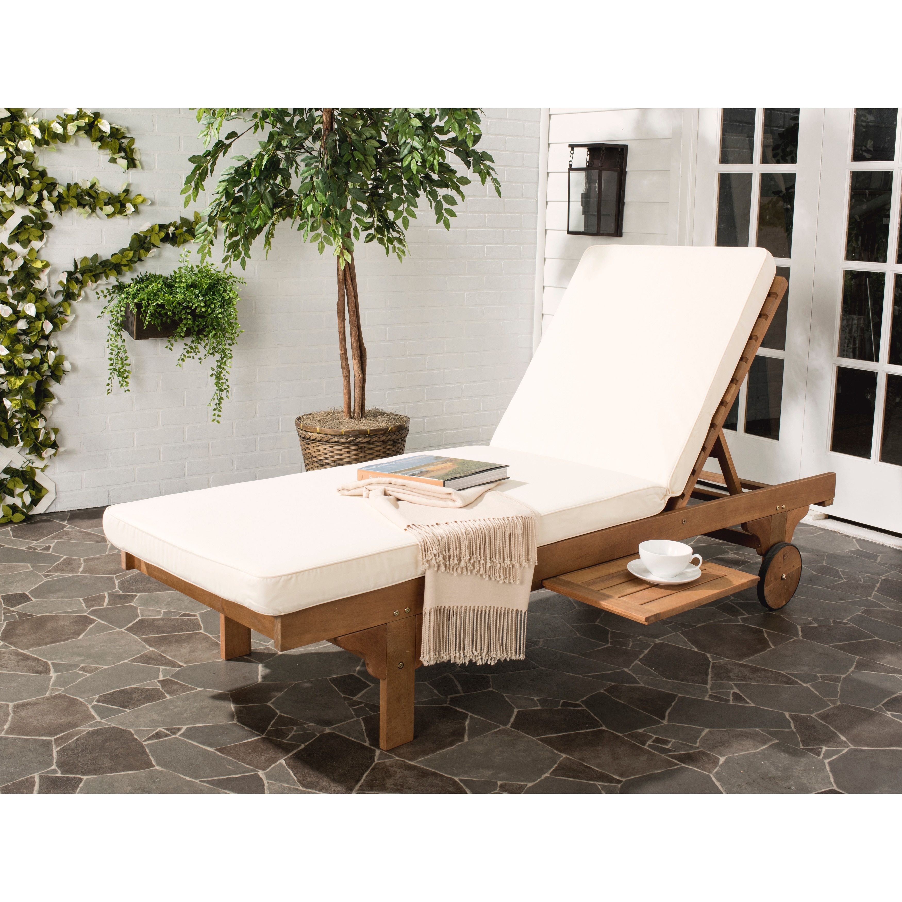 newport rocking chair stand up desk high safavieh outdoor living teak brown beige