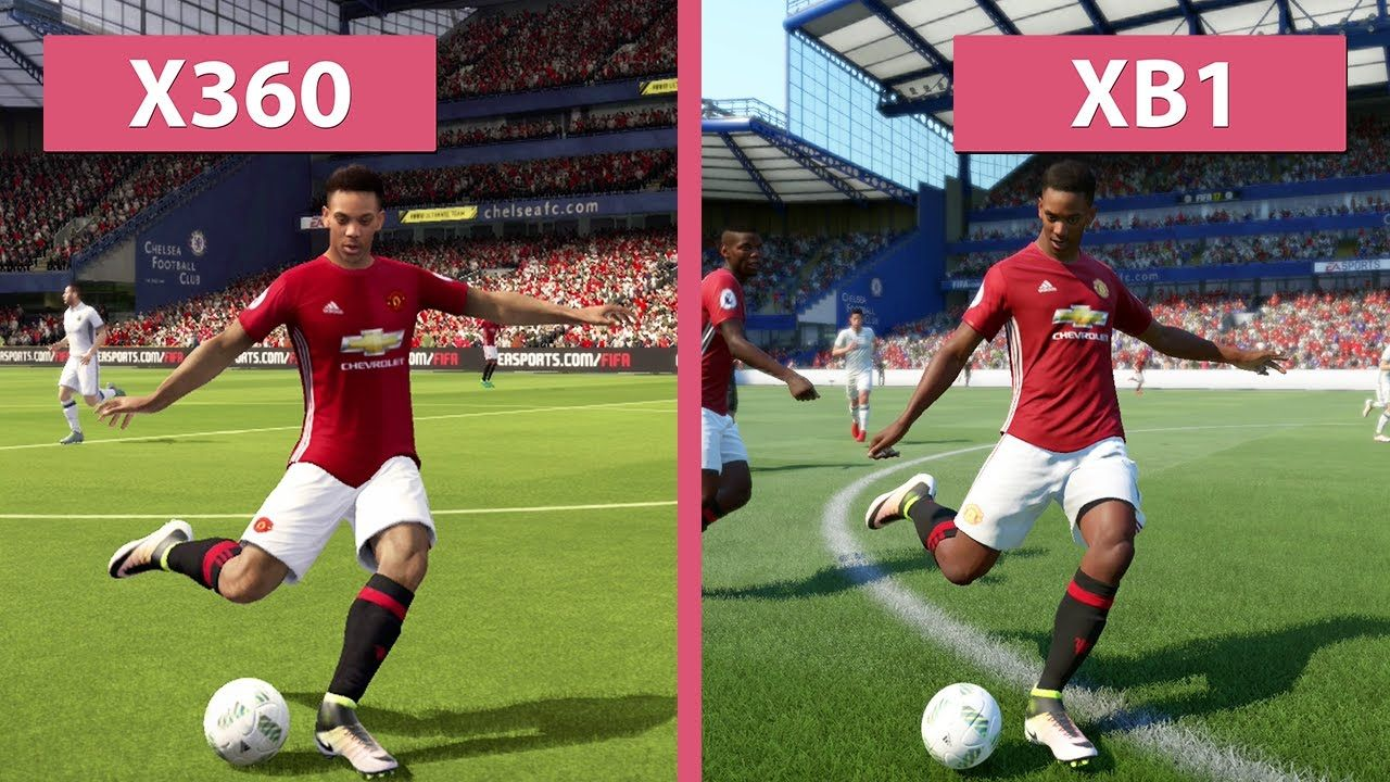Nice Fifa Seventeen Demo Xbox 360 Vs Xbox Just One Graphics Comparison Fifa 17 Fifa Xbox One