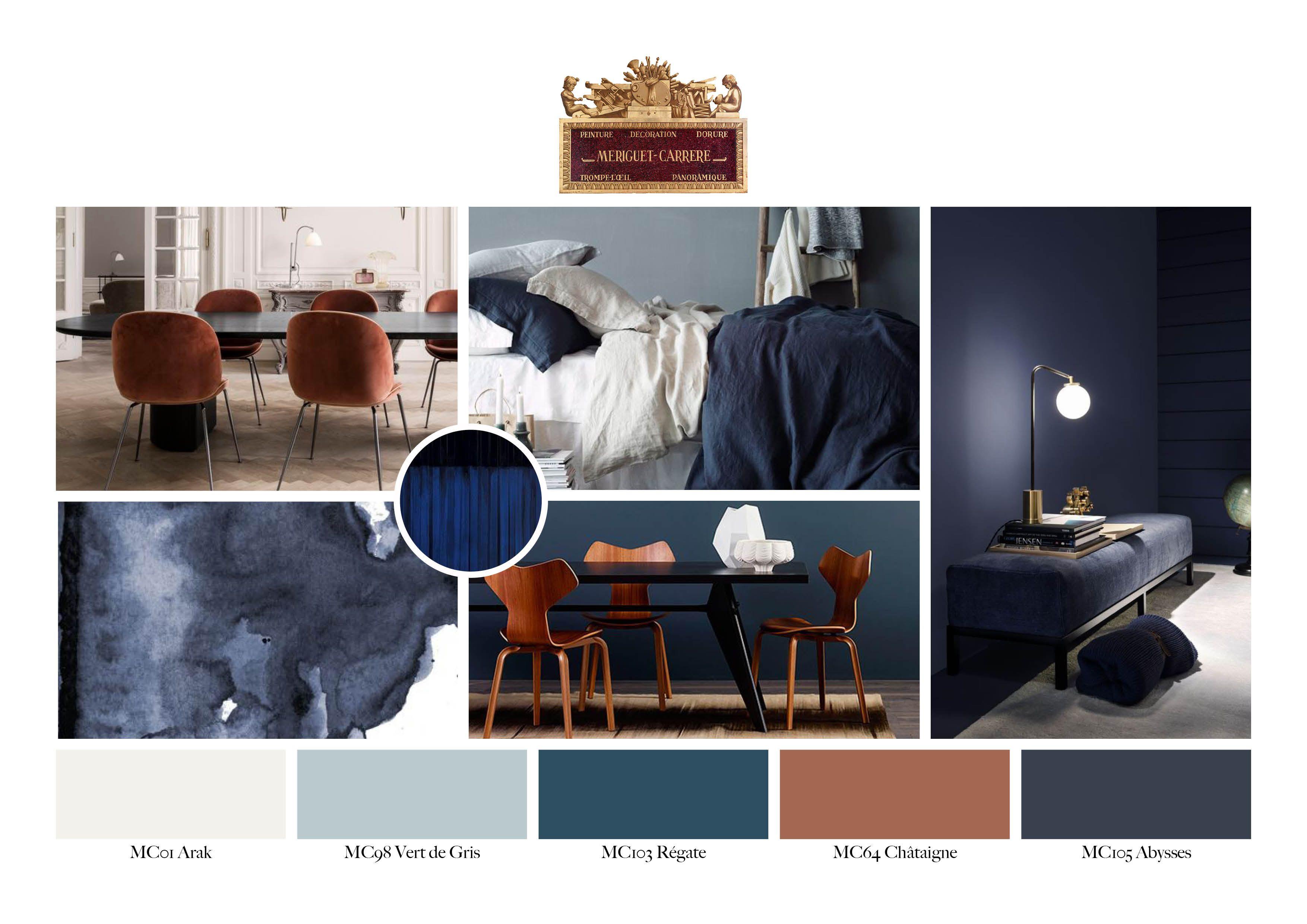 Couleur Gris Bleu Foncé le bleu marié aux teintes terracotta, une association douce