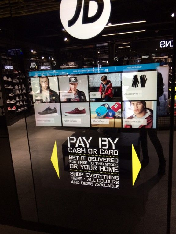 newest collection e4eb4 90352 JD Sports Trafford Centre, wall mounted Kiosk, software ...
