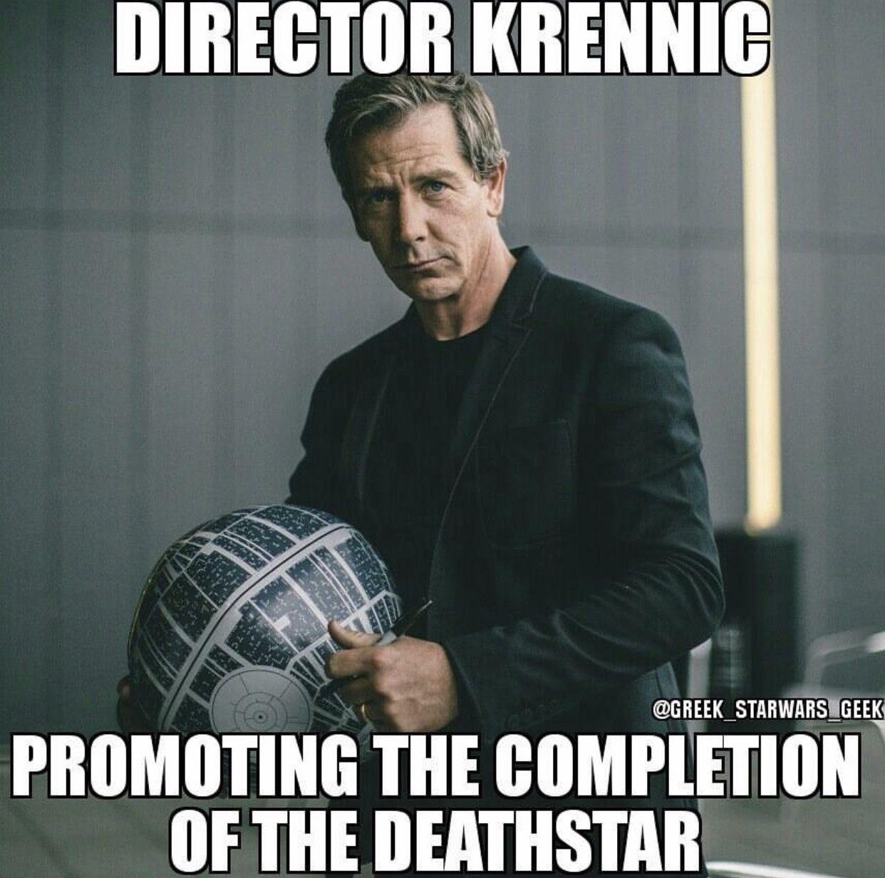 Director Krennic Meme Director Orson Krennic Pinterest Star