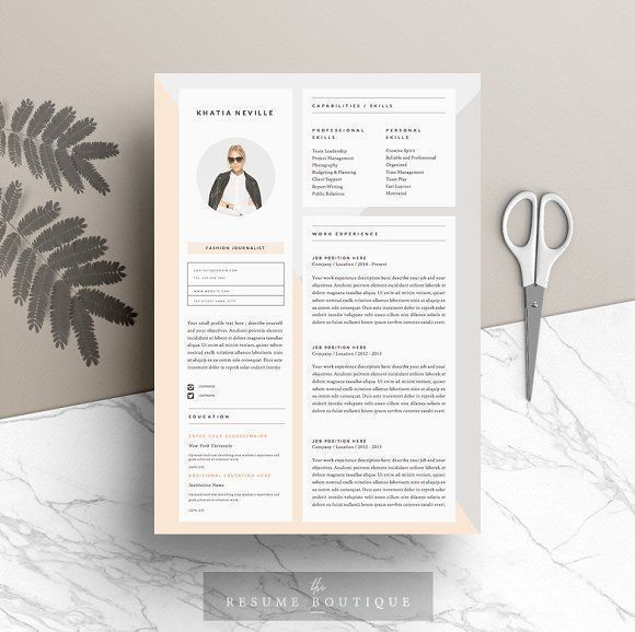 Resume Template 5pages Modern Muse Pinterest Template and - resume 5 pages