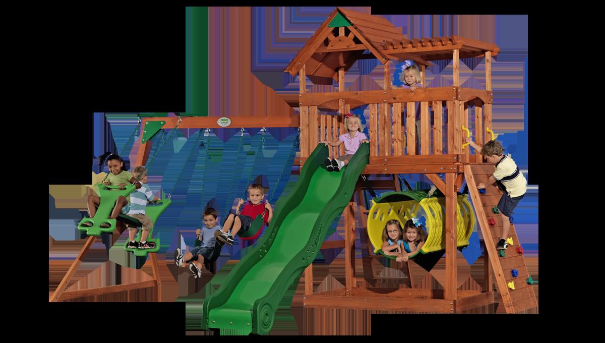 backyard discovery arizona cedar swing set 65311 outdoor