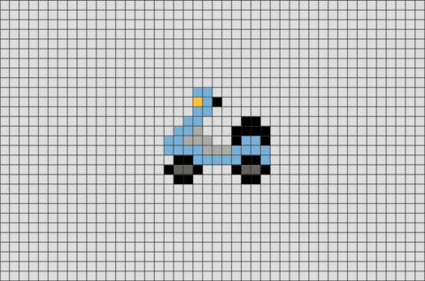 Motor Scooter Pixel Art · Pixel ArtHarry Potter ...