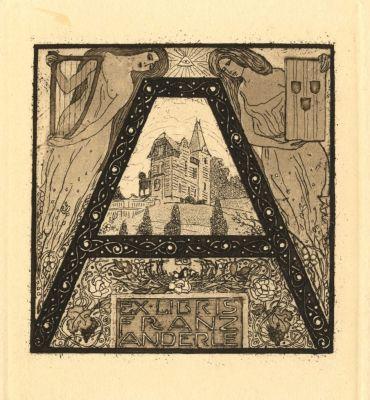 Ex Libris - Franz Anderle (1904) by Orlik, Emil (1870-1932)