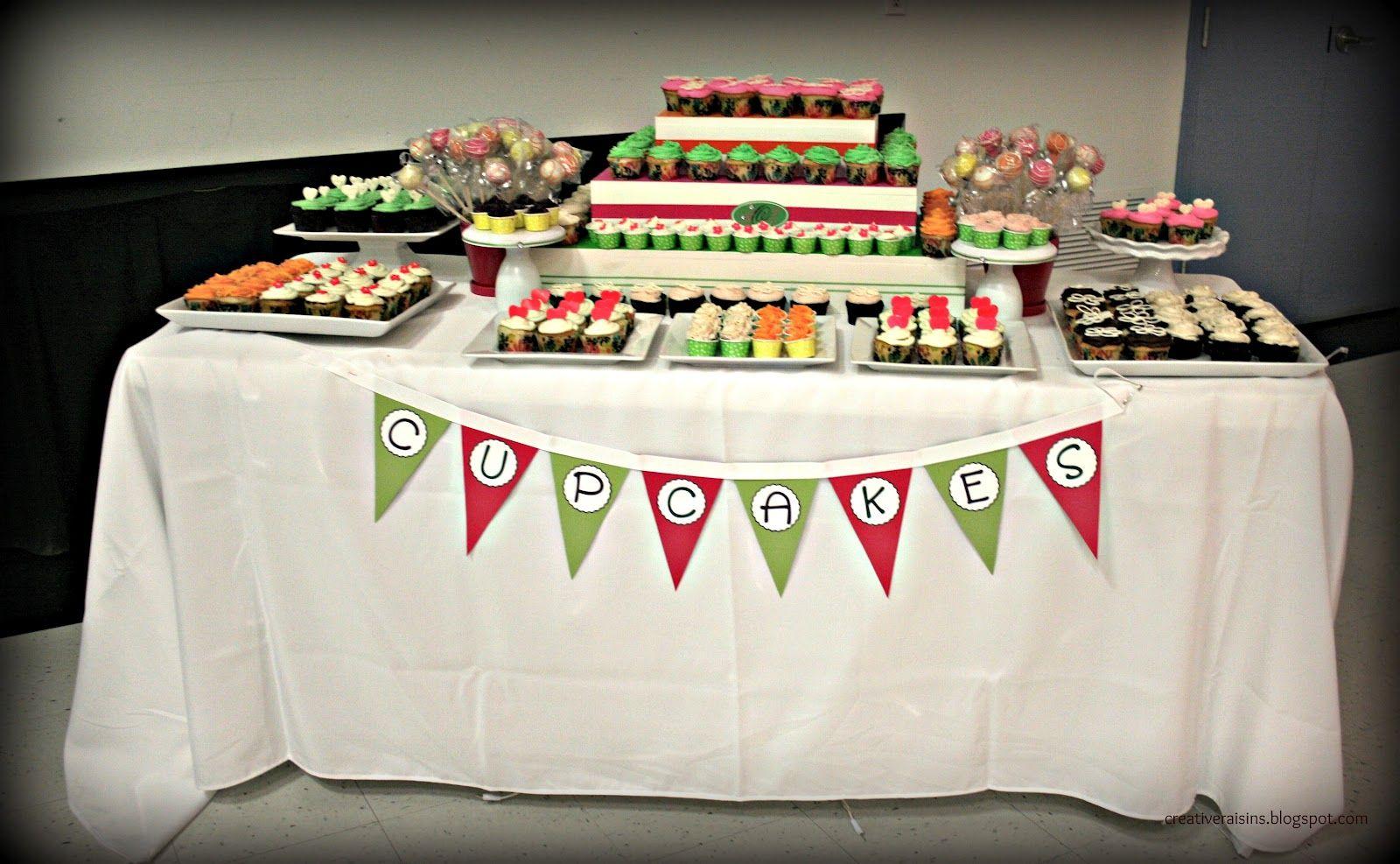 Creative Raisins: A Fabulous Party ~ Cupcake Table