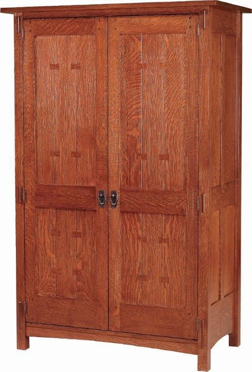 Beau Our Amish Post Mission Armoire Is Designed In A Reproduction Mission Style  With A Strong Emphasis On Functionality And Simplicity. The Inside Of The  Armoire ...