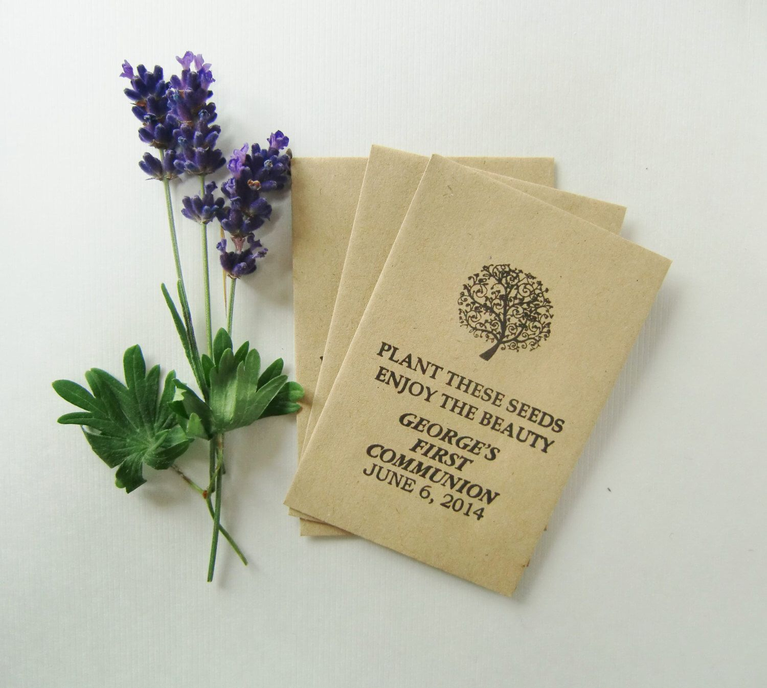 Baptism Favors Seed Packets Christening Favors Religious Text Plant