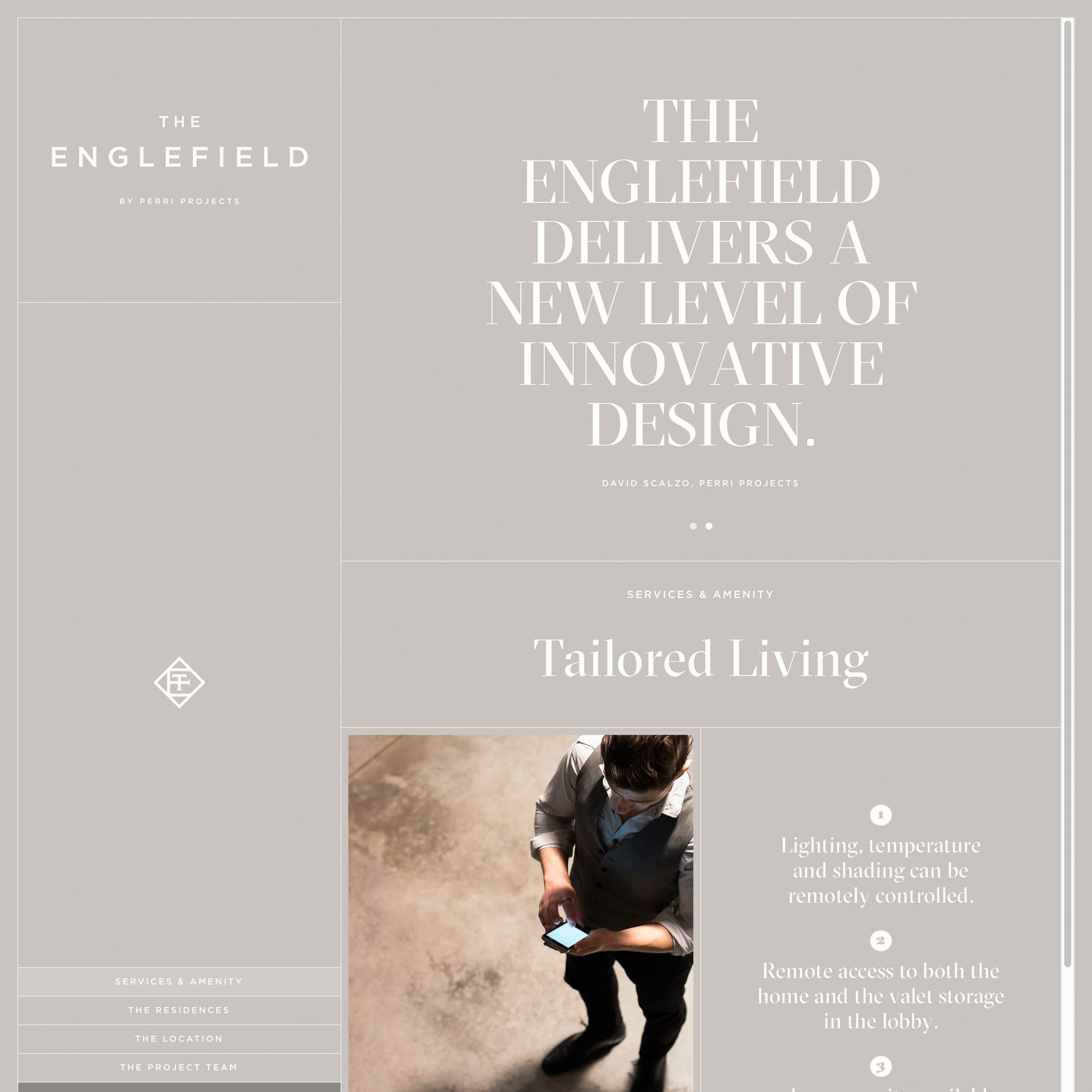 The Englefield Website - sleek, sophisticated, modern