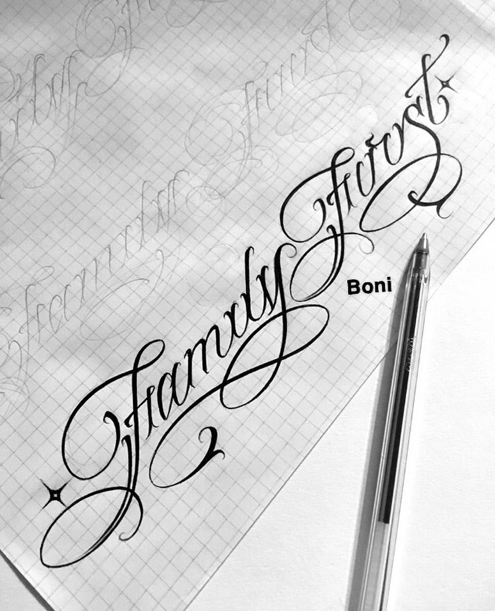 Family first #sketch #letras #lettering #letteringtattoo # ...