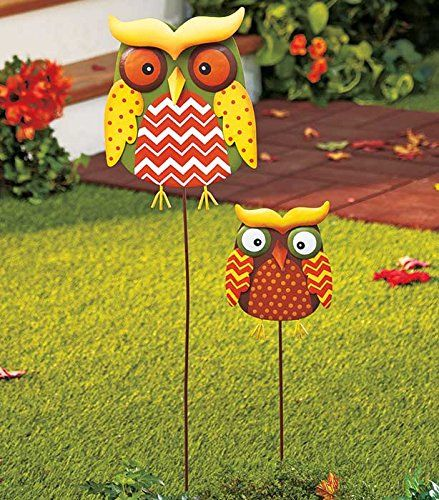 Decorative Garden Stakes Sets Of 2 Owl Learn More By Visiting Yard Decorationsgarden