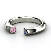 This ring is so pretty and different - Sterling Silver Ring with Blue Sapphire & Pink Sapphire