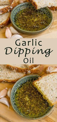 Dipping Oil is the easiest appetizer to make! With Italian herbs and lots of garlicky goodness, it's perfect for dipping your favorite crusty bread.