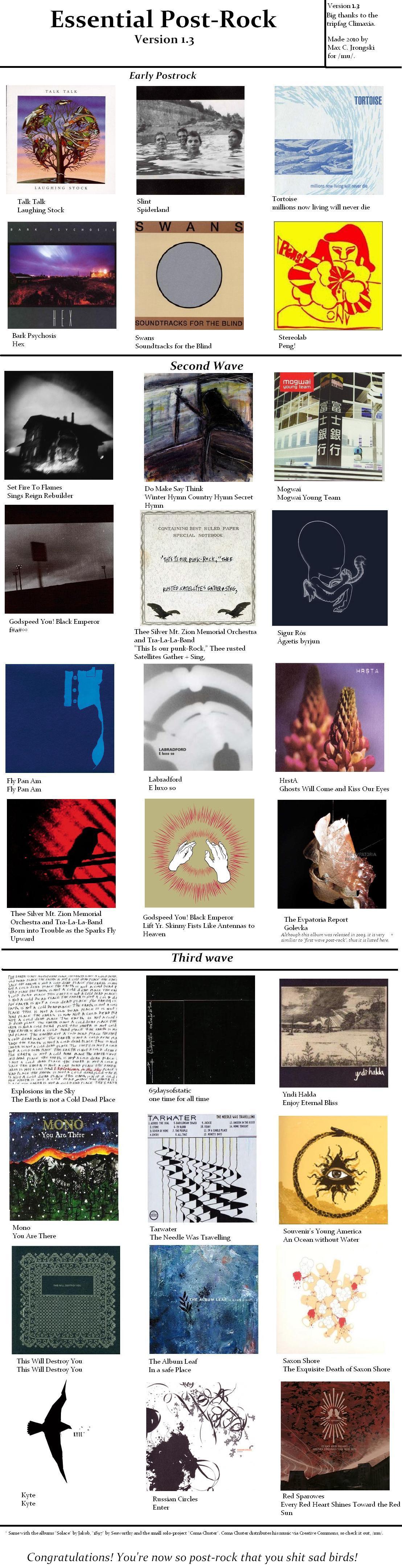 Post Rock Infographics Post Rock Music Charts Rock