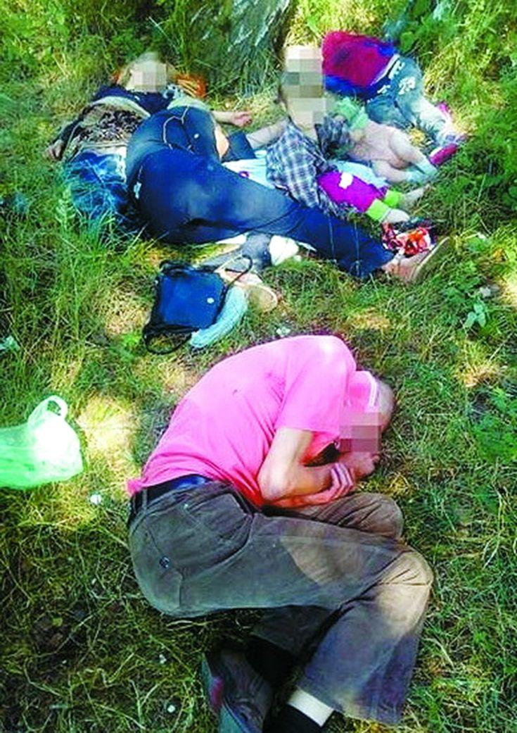 Нетвереза мама спала у траві. Поруч з нею – четверо заплаканих діток.  Патрульні Львова aa9c549925133