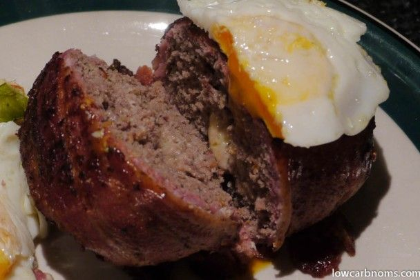Bacon Wrapped Beef Patties with Cheese (uses almond flour) | Low Carb