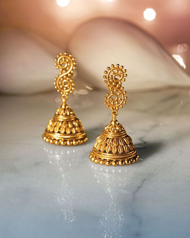Gold Jewellery Design Designer Earrings Collections View Collection Here Https Tanishq Co In