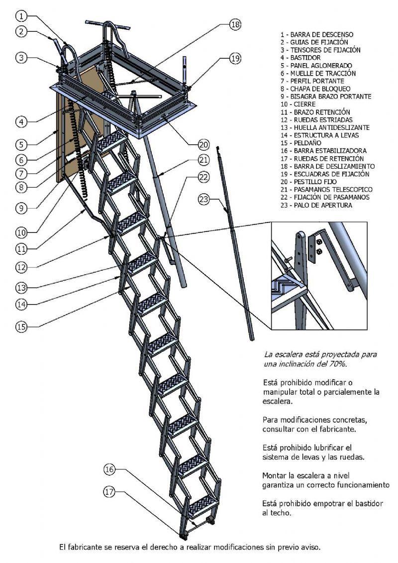 Escaleras plegables buscar con google escaleras - Escaleras metalicas plegables ...