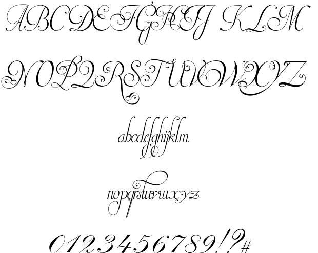 Invitation script font fonts n dings pinterest