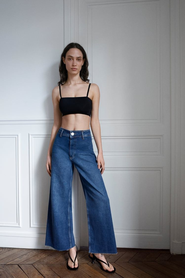 Zw Premium Marine Straight Jeans Zara United States Straight Jeans Fashion Wide Leg Jeans