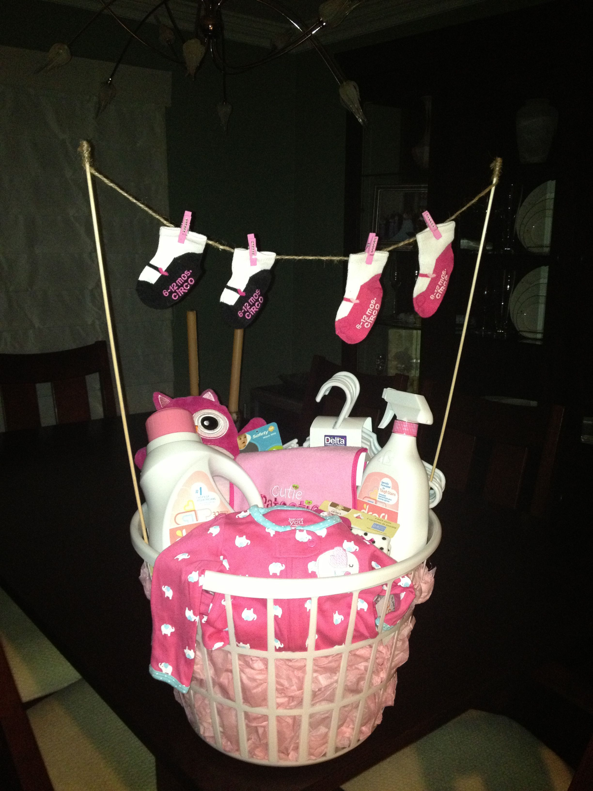Laundry basket baby shower gift | Baby Gifts | Pinterest ...