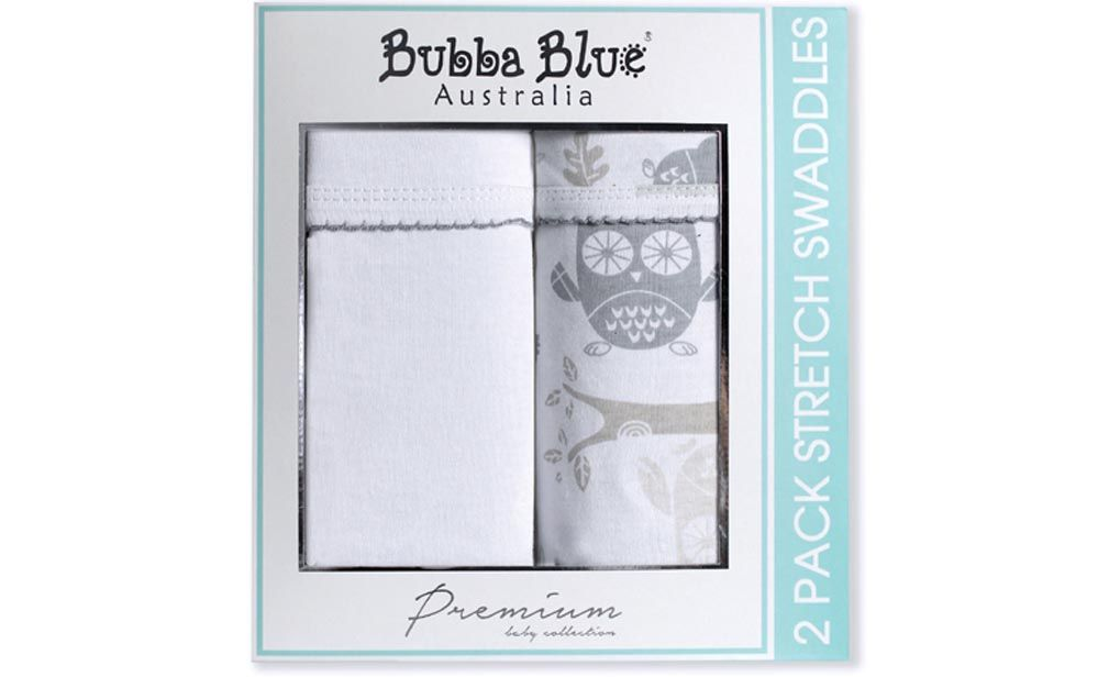 Bubba Blue Petit Elephant Pack of 3 2Ply Printed Muslin Swaddles Wraps