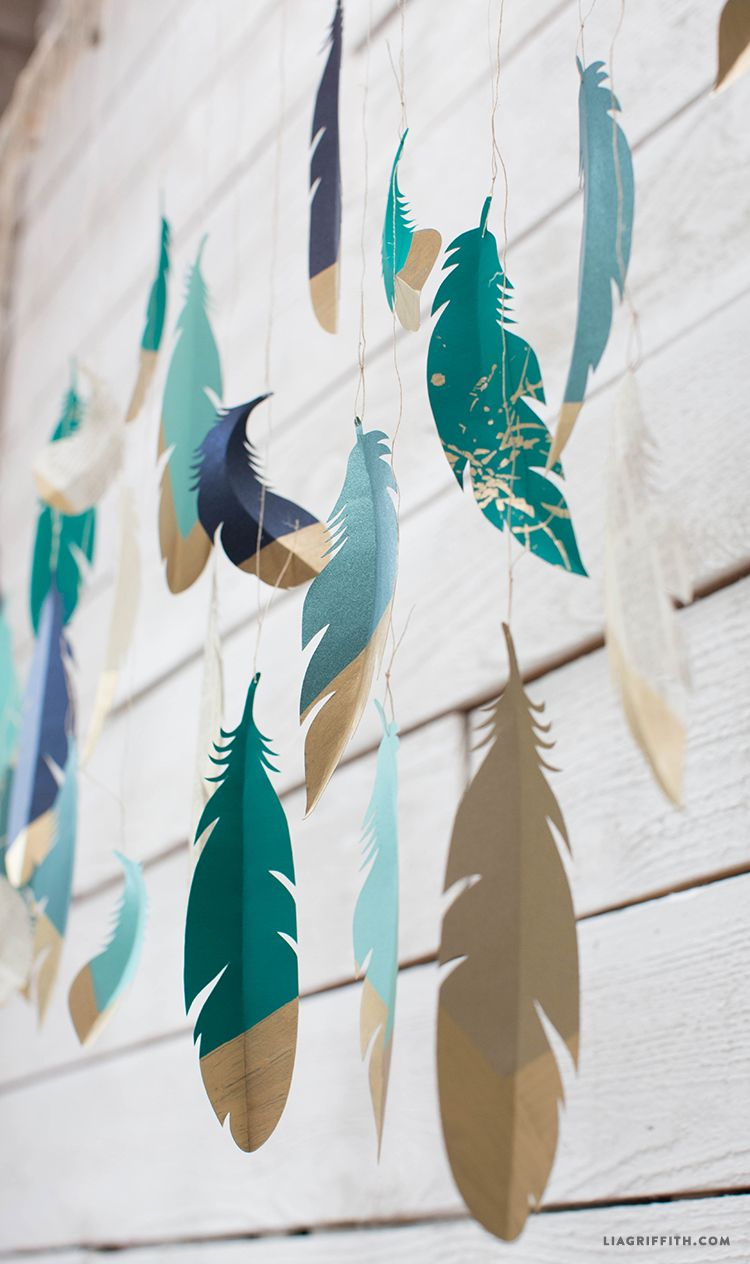 Paper Feather Wall Hanging Lia Griffith Feather Wall Hanging Paper Feathers Feather Crafts