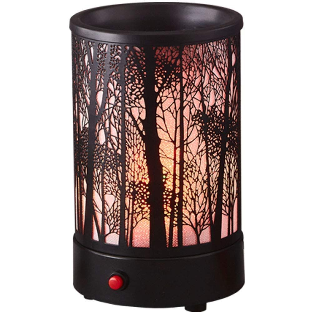 Hituiter Wax Melts Candle Warmer Classicand 7 Color Led Lights Black Metal Forest Design Fragrance Oil Warmer L Candle Warmer Scented Wax Melts Melting Candles