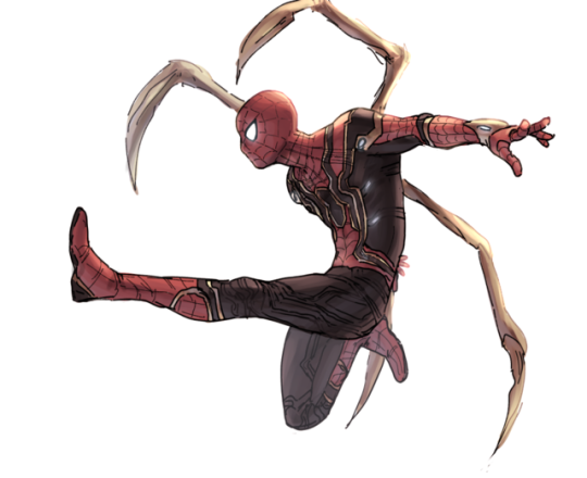 Iron Spider And Black Panther From Infinity War Wah Iron Spider Marvel Superheroes Amazing Spiderman