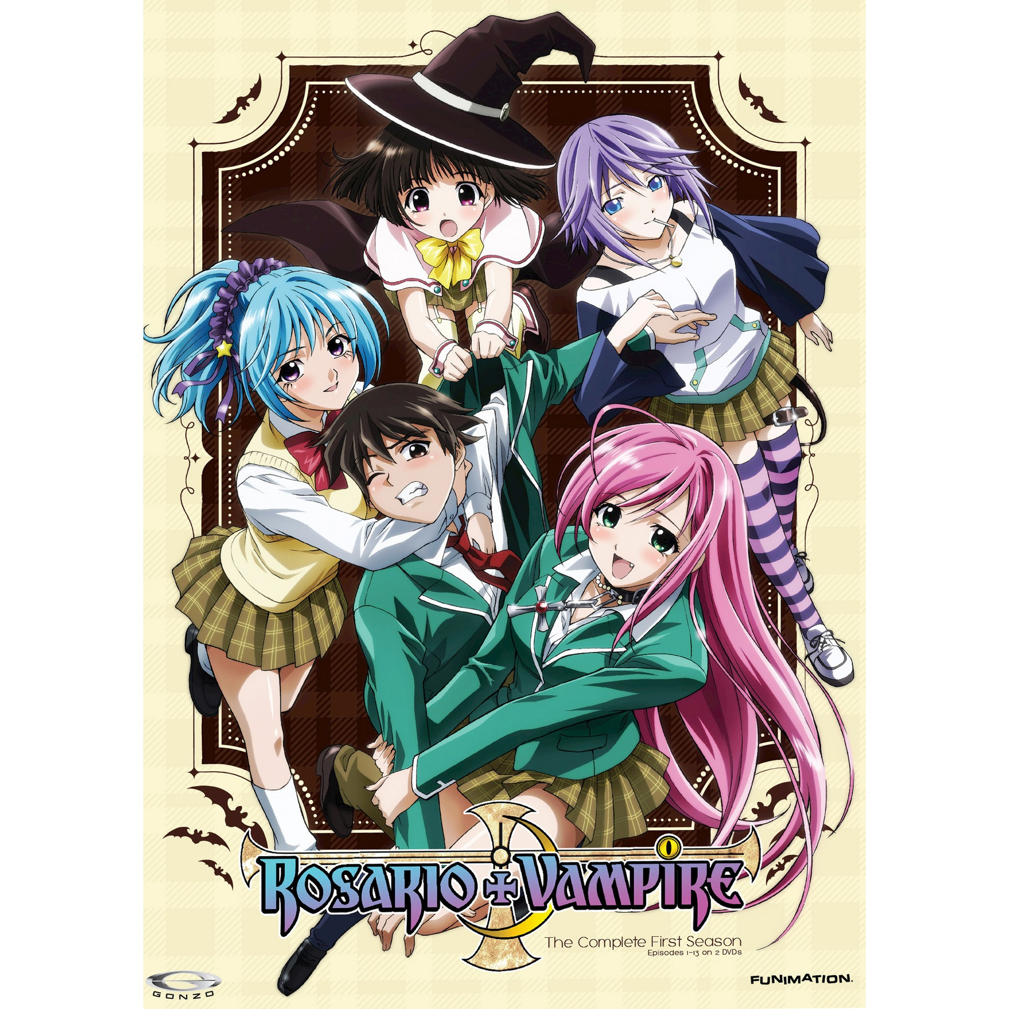 All Vampire Animes rosario plus vampire:complete ssn 1 (dvd) | rosario plus