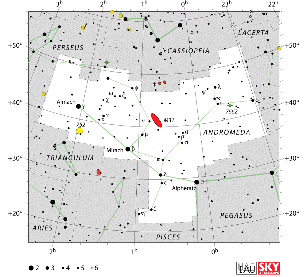 Andromeda Constellation Map Andromeda Galaxy Andromeda Constellation Constellations