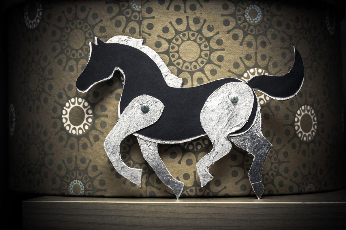 paper horse craft tutorial