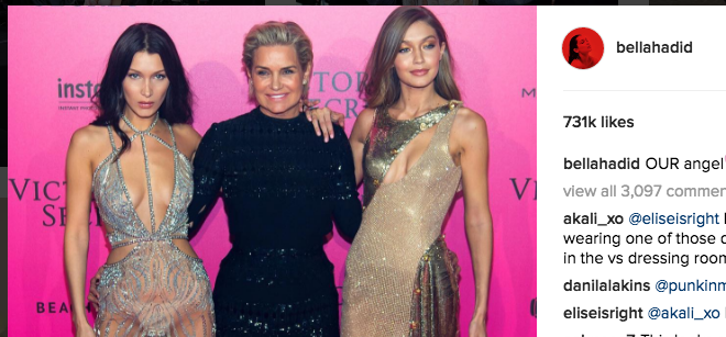 Bella and Gigi Hadid's Mom Slammed Over Photo of the Victoria's Secret Models as Naked Toddlers.