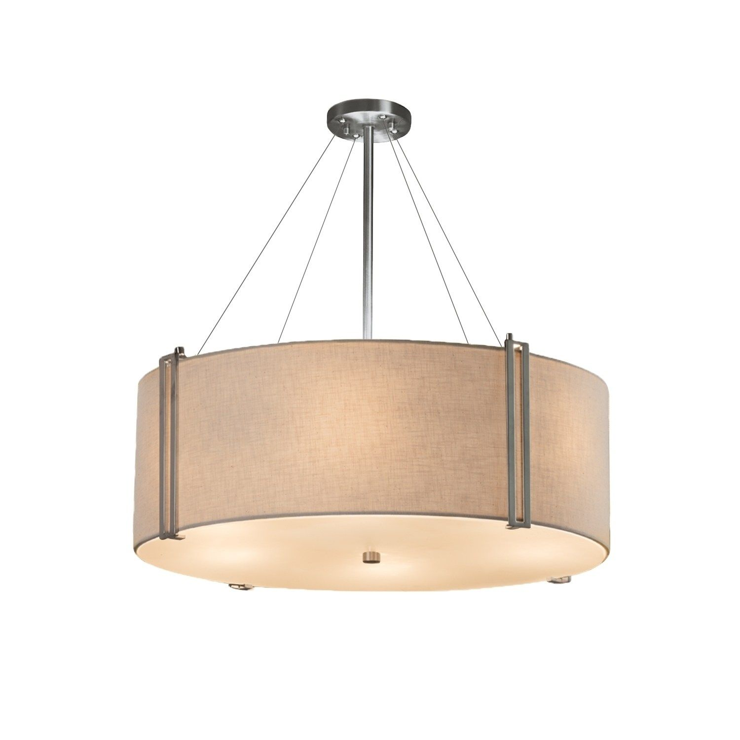 Justice Design Group Textile Reveal 48 Inch Brushed Nickel Pendant