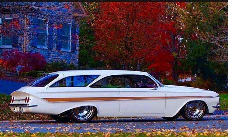 1961 Custom Chevy Impala Bubble Top Creation Station Wagon Cars Custom Cars Wagon Cars