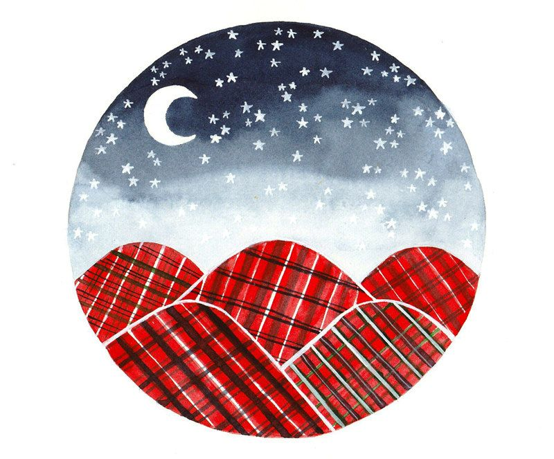 red plaid blankets.