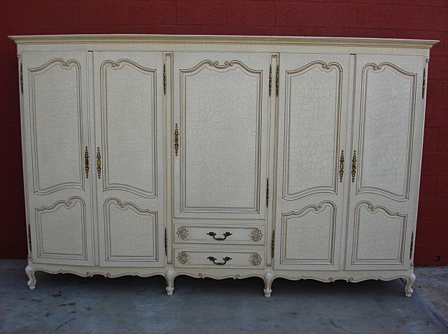 Attractive French Antique Armoire Wardrobe Closet Cabinet   Could We Make This Using  Exising Doors On Property