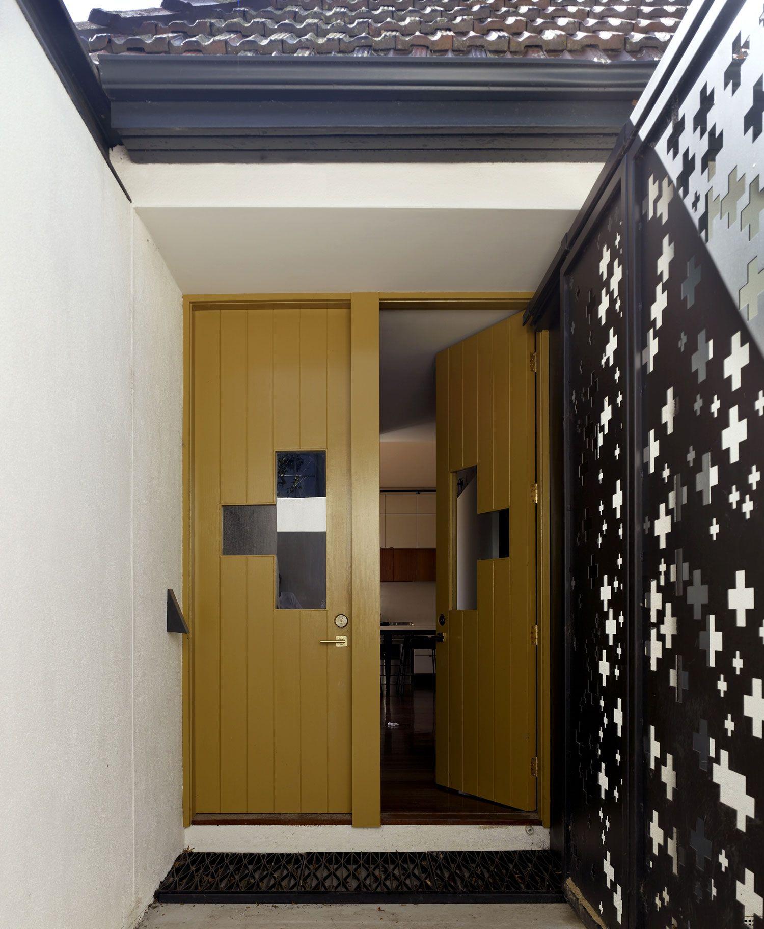 Wood double doors cross pattern mid century modern doors midcentury atomic ranch house sliding doors