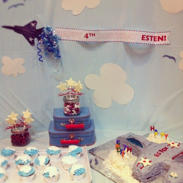 airplane birthday party for 4 year old boy