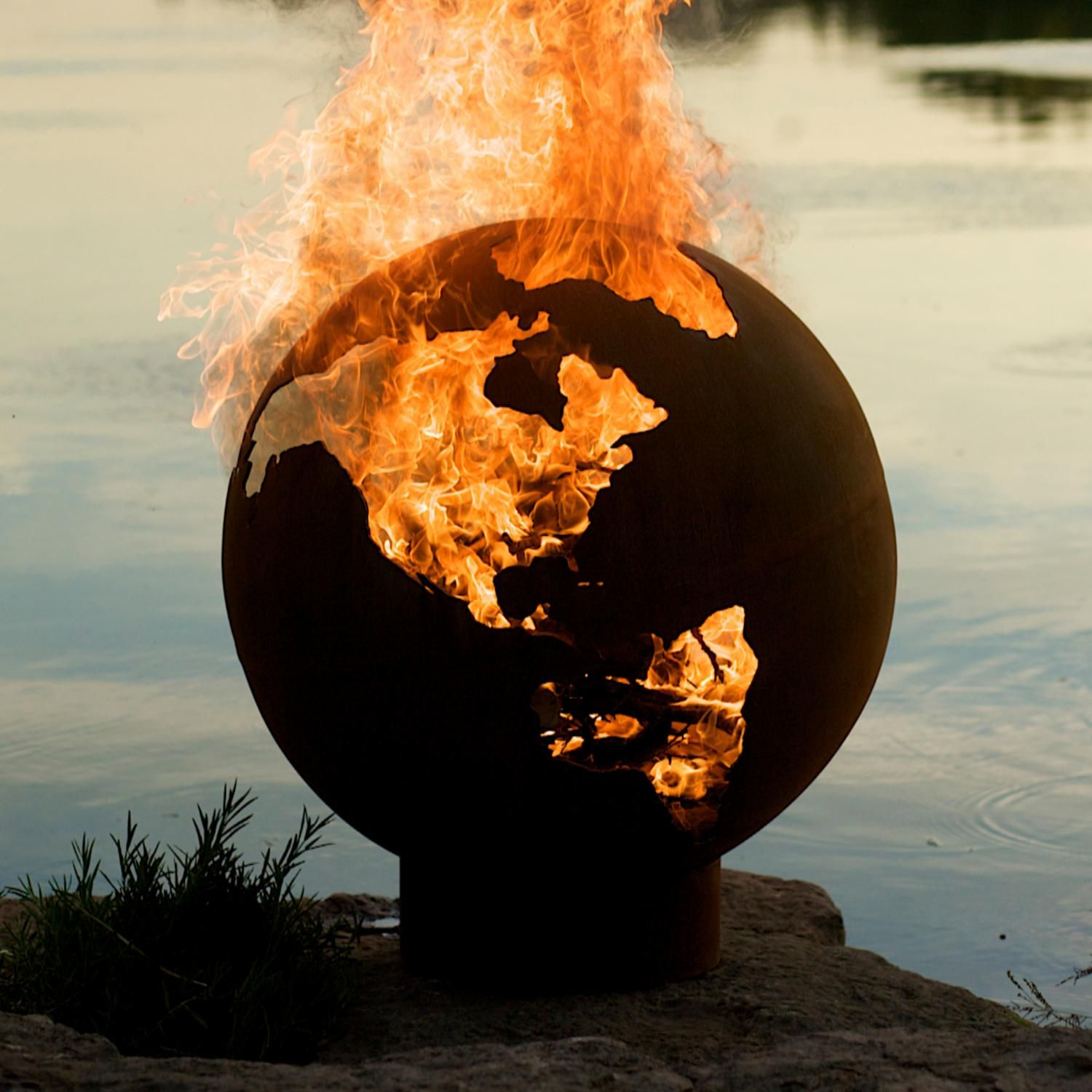 Marvelous Unique Globe 36 Inch Handmade Wood Burning Steel Fire Pit   Third Rock By Fire  Pit Art Photo Gallery