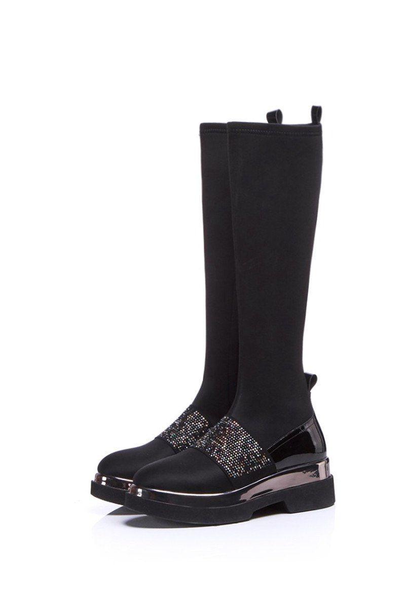 ea721ba17c FEDONAS 1Fashion Women Knee High Boots Autumn Winter Warm High Heels ...