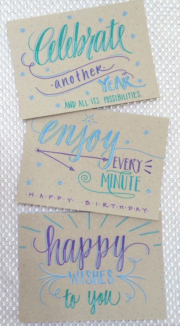 Lettering Lately > Hand lettered birthday cards